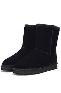 Black Round Toe Shoes Snow Boots FN5825-1