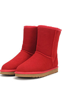 Watermelon Red Round Toe Shoes Snow Boots FN5825-4
