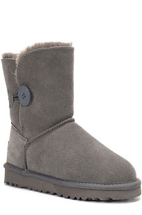 Gray Button Round Toe Shoes Snow Boots FN5803-2