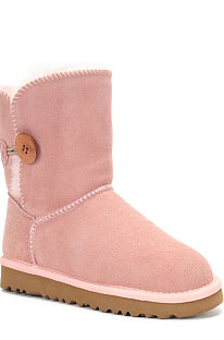Pink Button Round Toe Shoes Snow Boots FN5803-12