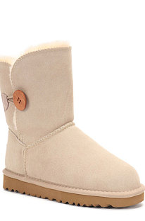 Sand Button Round Toe Shoes Snow Boots FN5803-6
