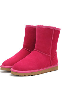 Rose Red Round Toe Shoes Snow Boots FN5825-7