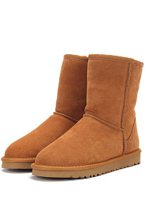 Chestnut Round Toe Shoes Snow Boots FN5825-3