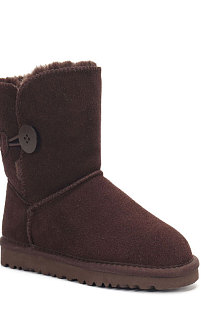 Chocolate Button Round Toe Shoes Snow Boots FN5803-4