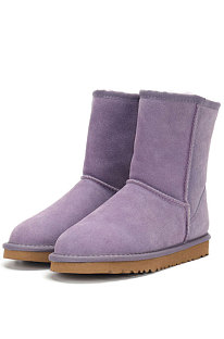 Purple Round Toe Shoes Snow Boots FN5825-6