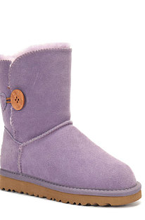 Purple Button Round Toe Shoes Snow Boots FN5803-7