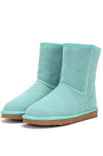 Lake Green Round Toe Shoes Snow Boots FN5825-9