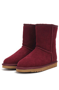 Wine Red Round Toe Shoes Snow Boots FN5825-8