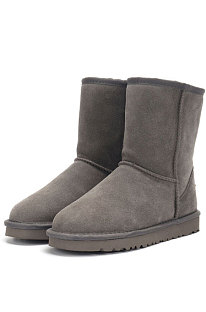 Gray Round Toe Shoes Snow Boots FN5825-2