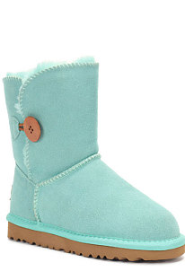 Lake Green Button Round Toe Shoes Snow Boots FN5803-10