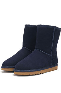 Navy Blue Round Toe Shoes Snow Boots FN5825-11