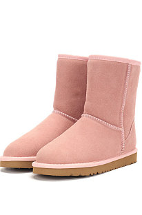 Pink Round Toe Shoes Snow Boots FN5825-12
