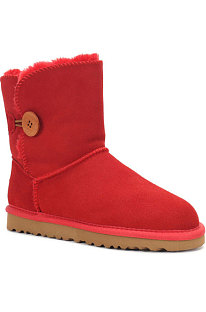 Watermelon Red Button Round Toe Shoes Snow Boots FN5803-5