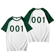 Squid Game Sport Round Collar Shorts Sleeve T Shirts HFW01-6