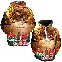 Squid Game Printing Casual Autumn Hoodie Tops Unisex HYT001