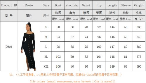 Unique Bodycon Split Long Dress For Women YYZ919