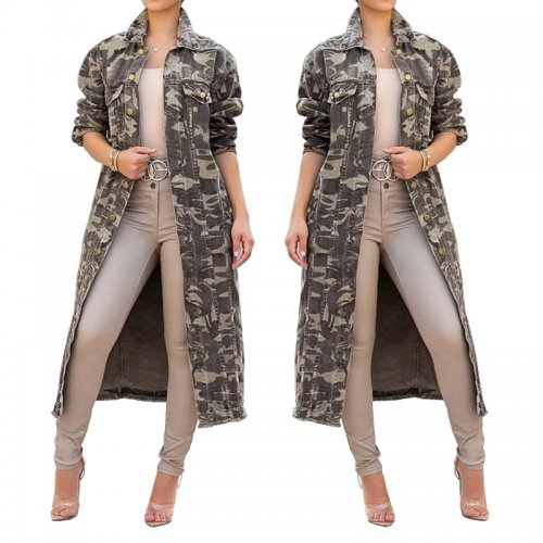 Winter Casual Camouflage Long Coats SMR9131