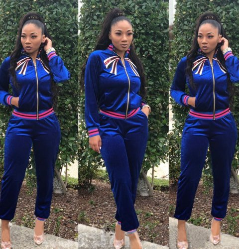 Fashion Blue Comfortable Sports Outfits QZ4529
