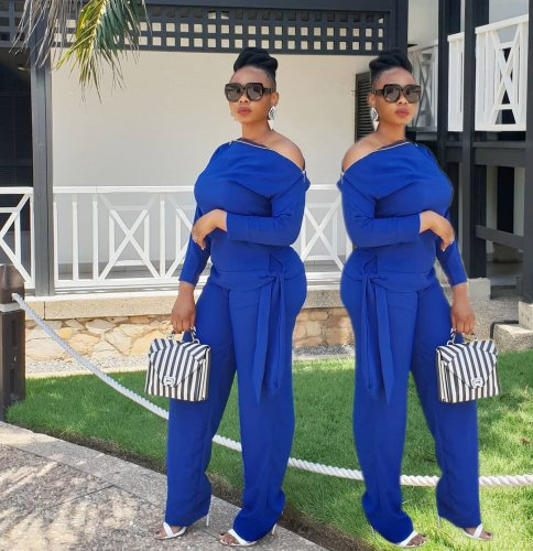Pure Color Leisure Long Outfits For Daliy Wear OMM1020
