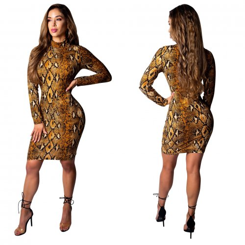 Sexy Print Skinny Club Mini Dress CM298