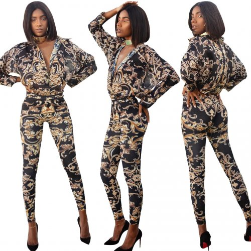 Euramerican Printing Bodycon Suits For Daily Wear YZ1674