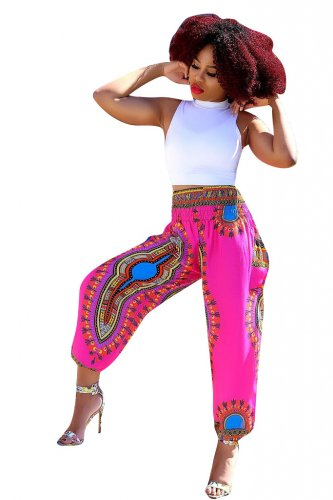 Print Bohemia Casual Wide Leg Pants CM533