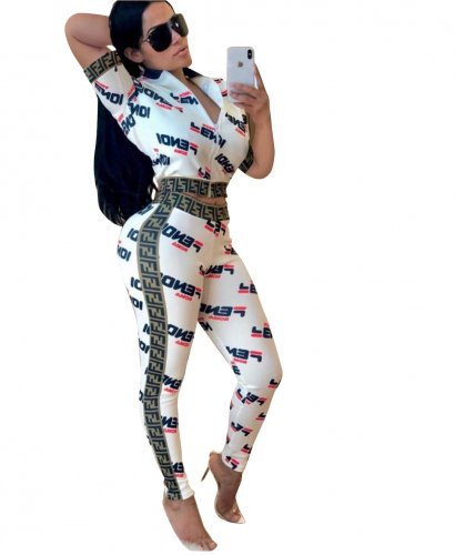Casual Wear Letter Print Two Pieces Outfits HG5192