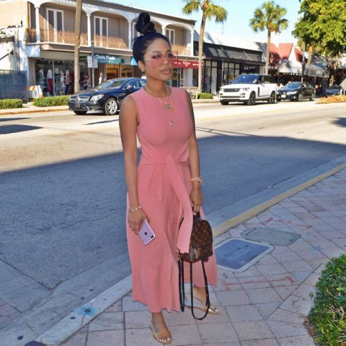 Pink Sleeveless Wide Leg Pants Loose Jumpsuits LS6093