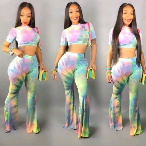 Hot Sale Tie Dyeing Two Pieces Sets W8207