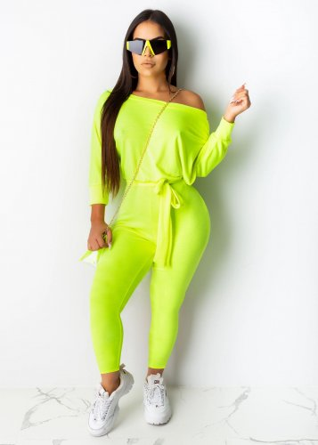 Green Solid Fashion Ladies Bodycon Long Sleeves Jumpsuits AA5097