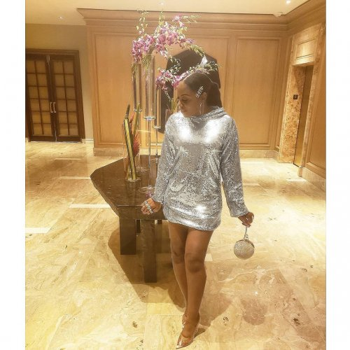 Solid Sequins Dress Long Sleeves Glitter Hooded Clubwear LY5110