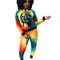 Street Style Long Sleeve Two-Piece Bodycon Tie-Dye Sport Sets C2045