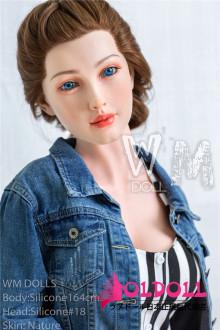 WMDOLL フルシリコン製ドール 164cm Dカップ ヘッド#18リアルラブドール 睫毛と眉毛植毛タイプ