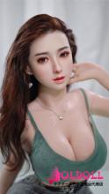 JYDOLL 157cm Hカップ 秀睫ヘッド (xiujie)シリコン製ヘッド+TPE製ボディ ラブドール 宣伝画像スターメイク 睫毛と眉毛植毛あり
