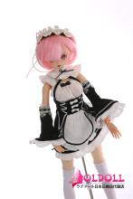 Mini Doll ミニドール 58cm 普通乳 BJD Lamu 高級TPE製 セックス可能 軽量化 1.5㎏ 収納が便利 使いやすい 普段は鑑賞用 小さいラブドール 女性素体 フィギュア cosplay