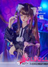 MOZU DOLL 145cm Dカップ 黒猫ちゃん TPE製等身大ラブドール 宣伝画像と同じ制服も付属