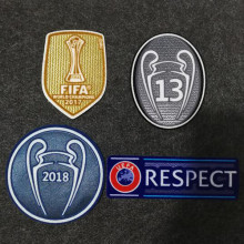 2018 Uefa league champion patch +Fifa club world cup champion patch + Respect+13 trophy patch