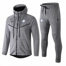 18-19 Inter Milan Grey Hoody Zipper Jacket Tracksuit