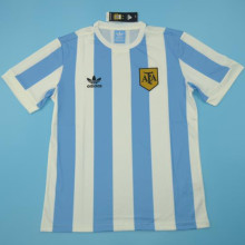 Men's Retro Argentina Home White And Blue Fans Version 1978