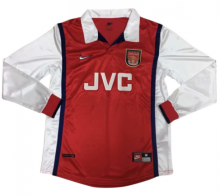 1998-1999 Arsenal Home Long Sleeve Retro Soccer Jersey