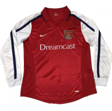 2000 Arsenal Home Long Sleeve Retro Soccer Jersey