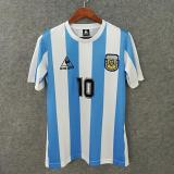 1986 Argentina Home Retro Soccer Jersey