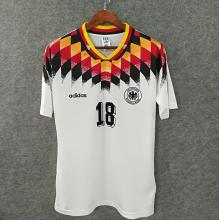 1994 Germany Home White Retro Soccer Jersey
