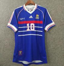 1998 France Home Blue Retro Soccer Jersey