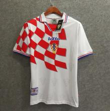 1998 Croatia Home Red And White Retro Soccer Jersey