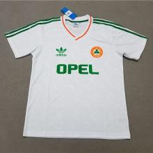 1990 Ireland Away White Retro Soccer Jersey