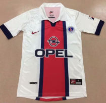 1998/1999 PSG  Away Retro Soccer Jersey