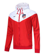 18/19 Atletico Madrid Red And White Windbreaker
