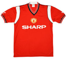 1984-1986 Man Utd Home Retro Soccer Jersey