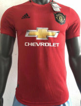 2019/20 Man Utd Home Red Player Version Soccer Jersey